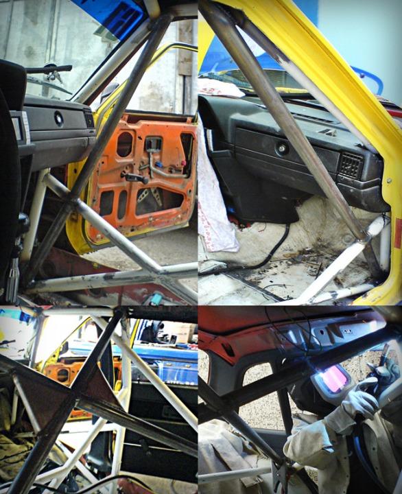 Toyotastrebe, Knotenbleche und Kreuzverstrebung